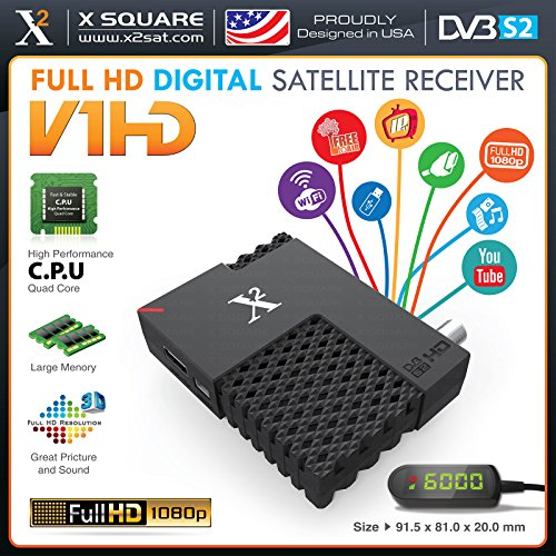 New Version – X2 V1 Mini HD DVB-S2 FTA with IPTV Hybrid