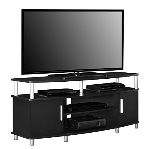 altra carson 50 tv stand black televisionery. Black Bedroom Furniture Sets. Home Design Ideas
