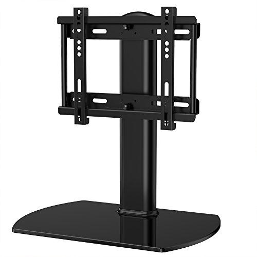 Mount-It! Universal Tabletop TV Stand Mount and AV Media Glass Shelf ...
