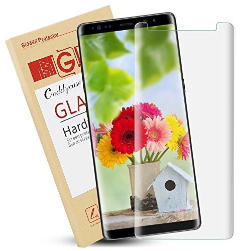 Galaxy note 8 screen protector, galaxy note 8 tempered glass screen protector, galaxy note 8 tempered glass Coddycase Bubble-Free Easy Installation 3D ...
