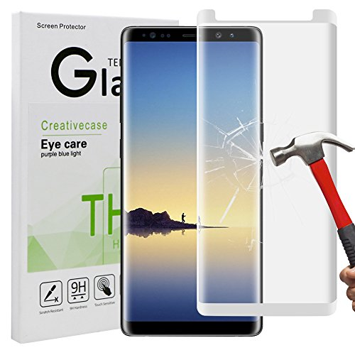 High-response material maintains your screen's original sensitivity. Designed for galaxy note 8 screen protector :9h hardness ...
