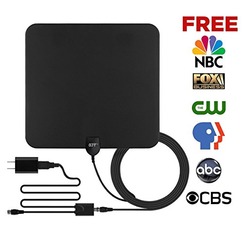 Gjt Amplified Tv Antenna Hdtv Digital Antenna 50 Miles