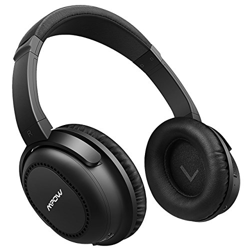 mpow h5 active noise cancelling bluetooth headphones over ear stereo wireless headphones w mic. Black Bedroom Furniture Sets. Home Design Ideas