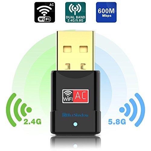 USB Wifi Adapter 600Mbps Dual Band 2 4G/5G Mini Wi-fi Wireless