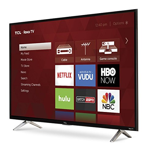 3 hdmi inputs, analog video input, USB port, digital and analog audio output. Roku tv personalized home screen. 43-inch class full HD Roku Smart TV.