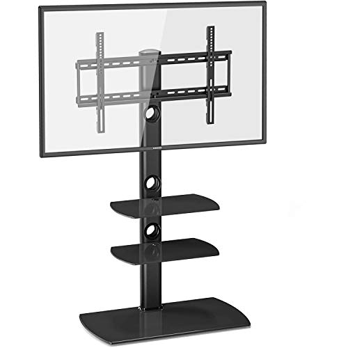 Fitueyes Floor Tv Stand With Swivel Mount Height Adjustable For 32